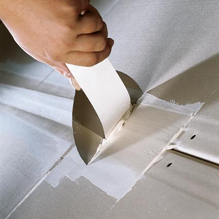 pappersremsa vid spackling